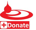 A logo for blood donation