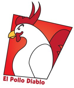 Silly Logo for el pollo diablo