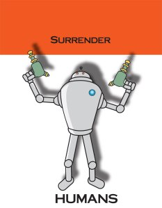 Killer Robot with ray guns done in Adobe Illustrator